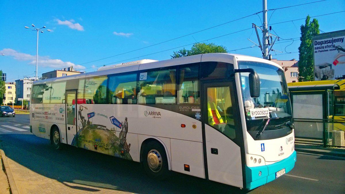 Arriva uruchamia bezpłatny autobus na bydgoskie lotnisko