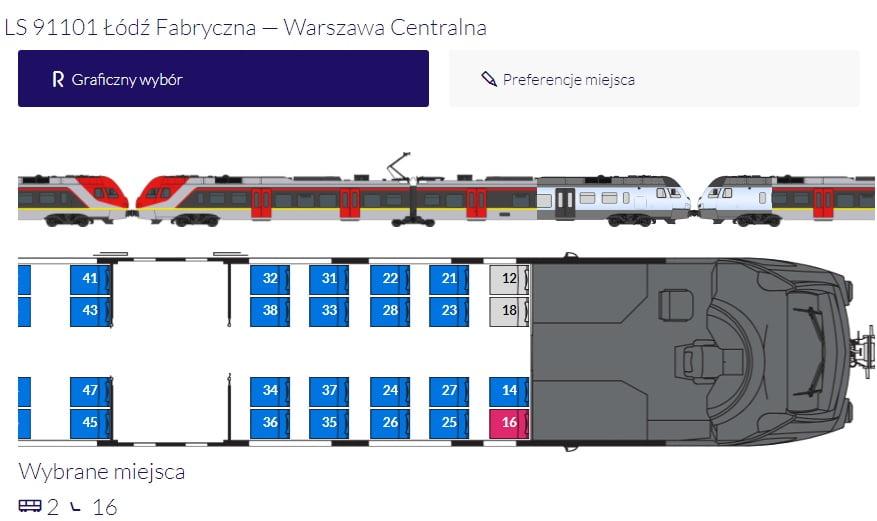 Możliwość wyboru miejsca w pociągach ŁKA Sprinter!