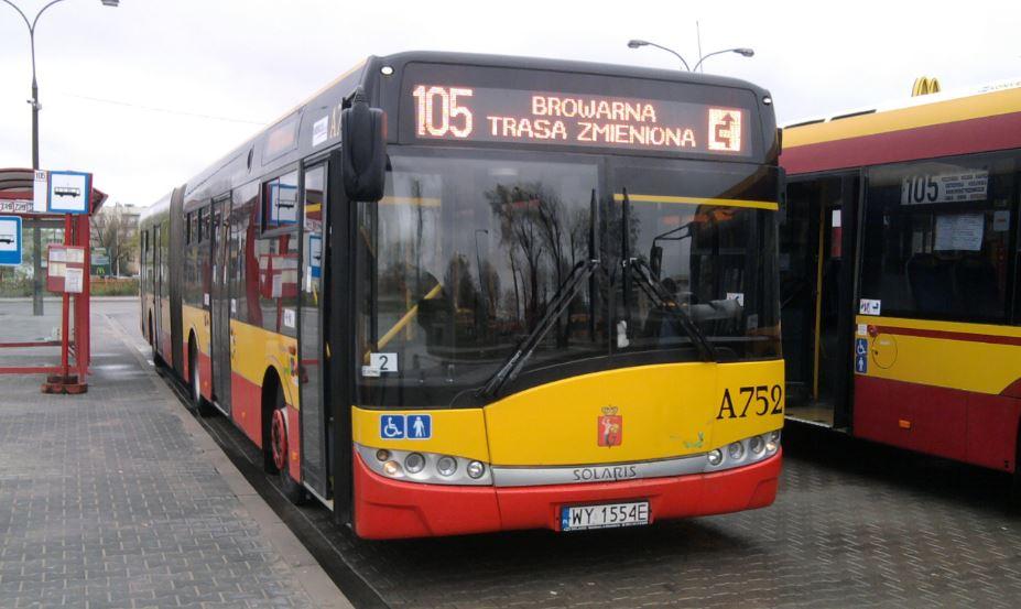 Autobusy linii 105 kursują z częstotliwością metra
