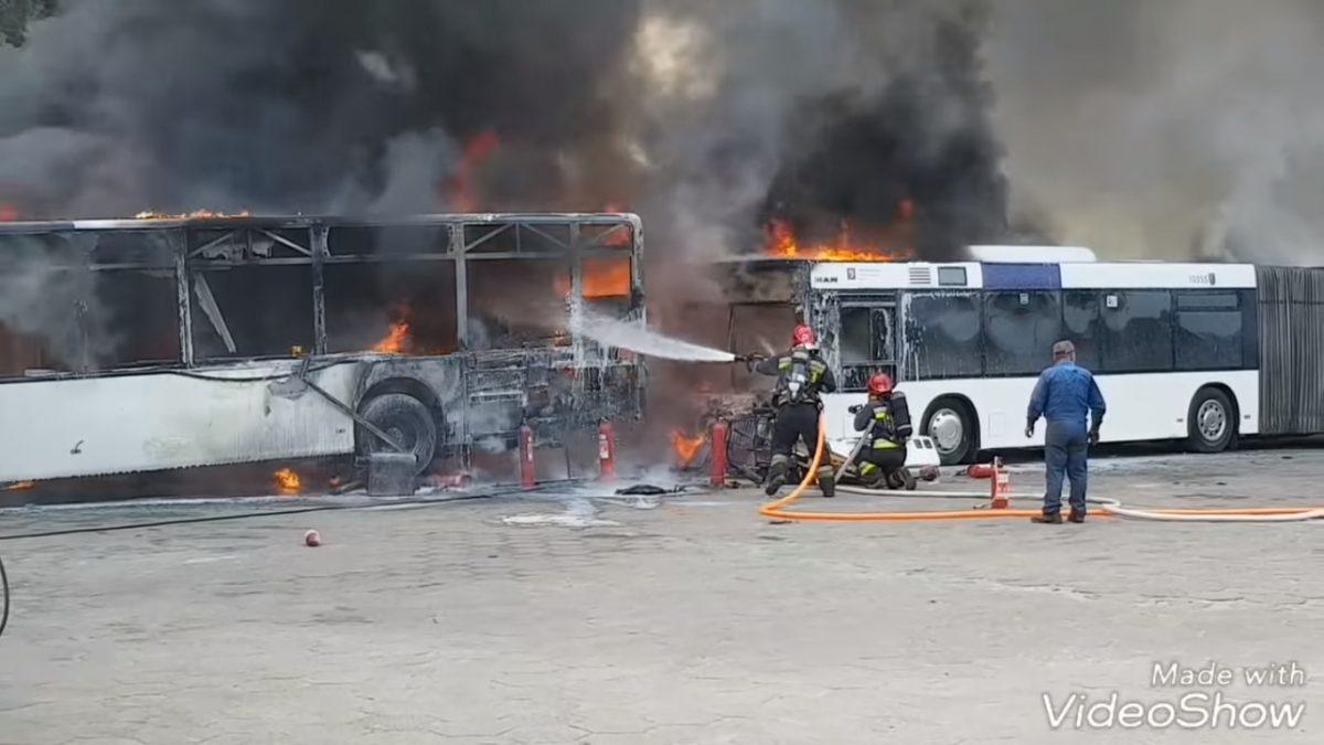 Dwa pożary autobusów w ciągu tygodnia