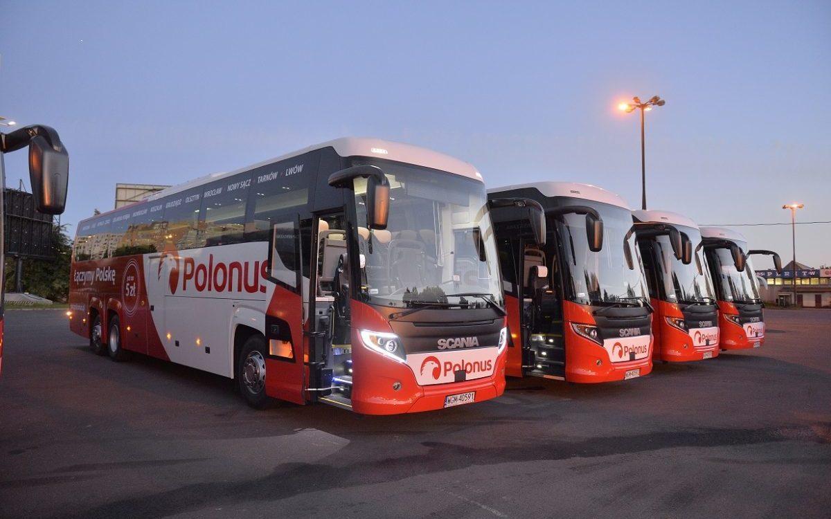 Siedem nowych autokarów we flocie Polonusa