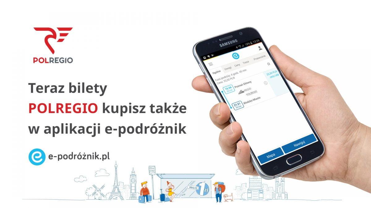 Bilety Polregio dostępne w kolejnej aplikacji mobilnej