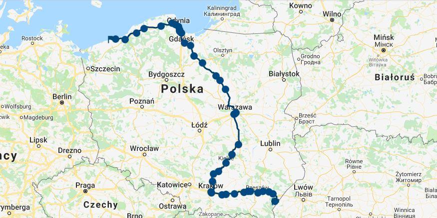 Najdłuższe trasy pociągów pasażerskich w Polsce