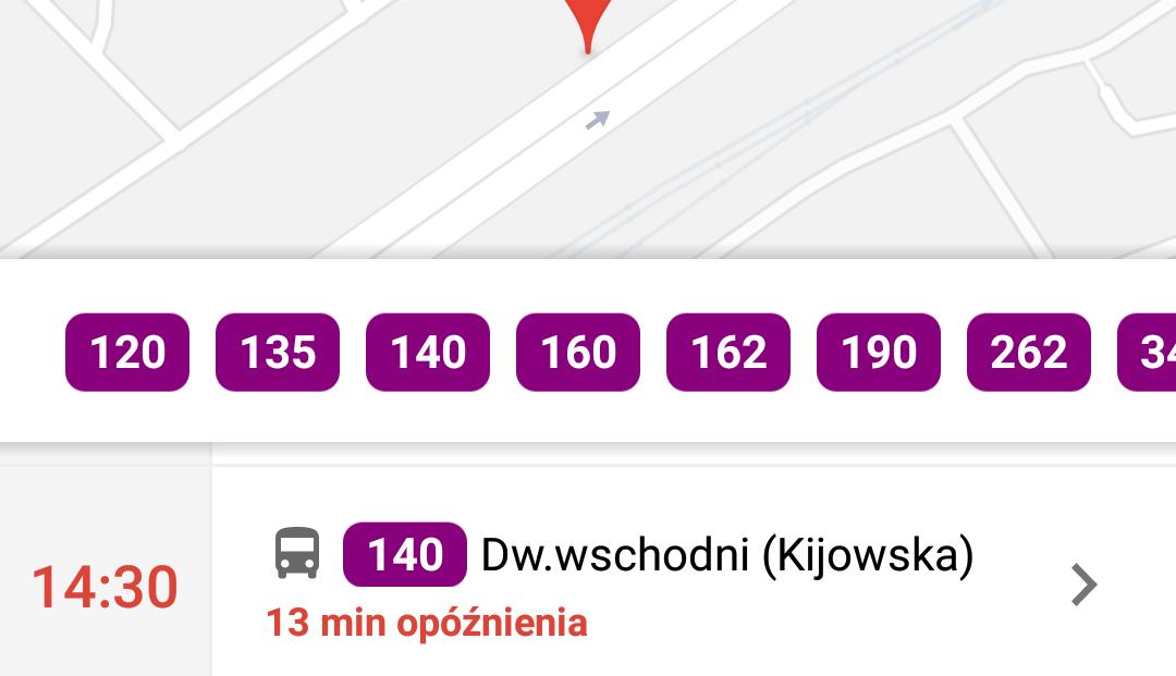 Warszawskie pojazdy w czasie rzeczywistym na mapach Google