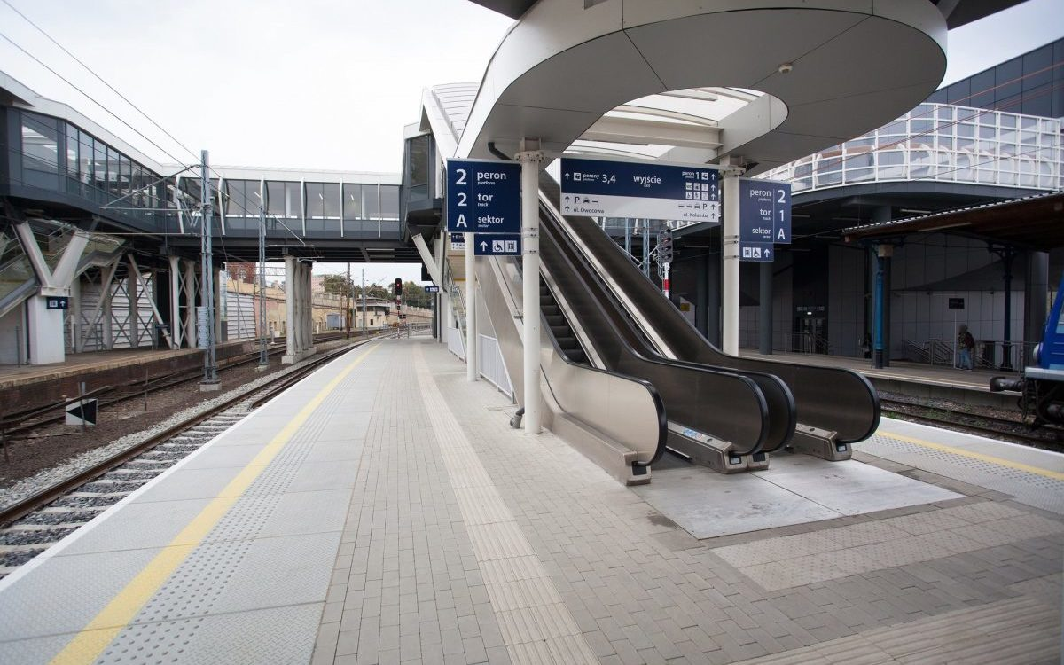 Szczecin Główny z nowym peronem